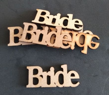 wooden craft BRIDE SHAPES shapes, laser cut 3mm mdf embellishments
